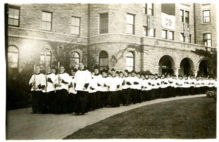 Seminarians outside of St. Joseph's