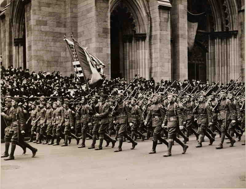 77th Division marching past St. Patrick's Cathedral