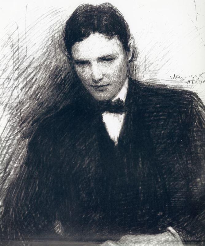 Patrick McDonough, sketch by Jack Yeats, 1908