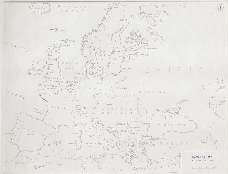 General Map of Europe, 1914