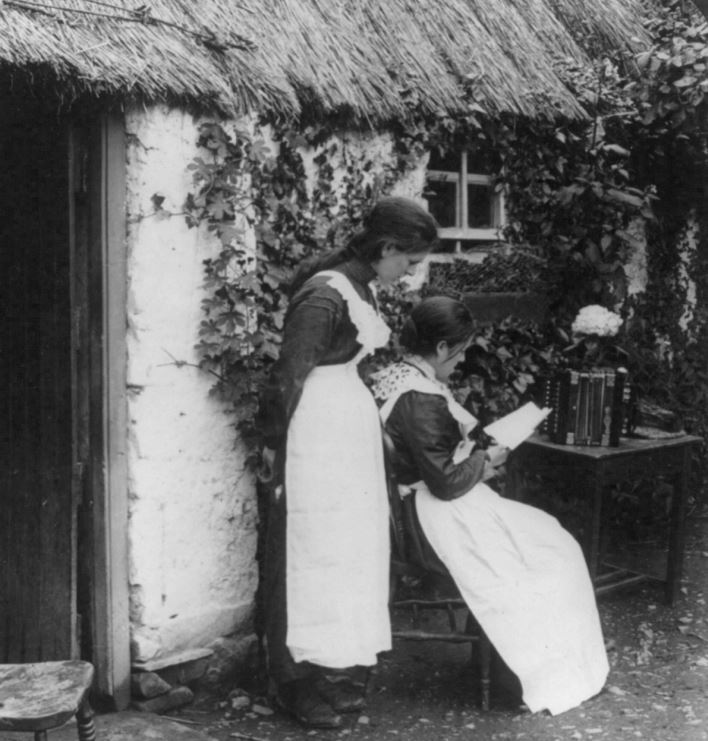 Letters from America. Mail arrival at a cosy home over-sea. County Monaghan, c. 1903