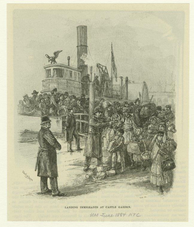 Immigrants landing at Castle Garden