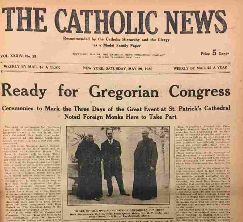 Catholic News, Gregorian Chant Congress