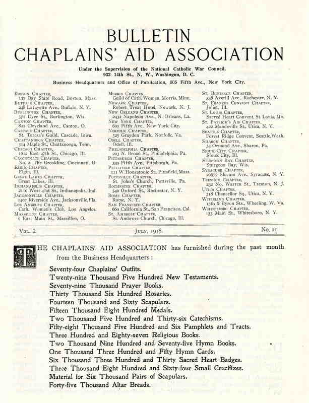 Chaplains' Aid Association Bulletin