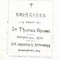 St. Thomas Aquinas Exercises program cover