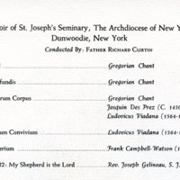 Program from the 1962 Sacred Bridge Music Concert at Hebrew Union College