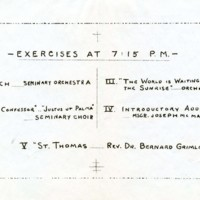St. Thomas Aquinas Exercises (inside program)