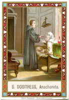 St. Dositheus of Gaza Holy Card