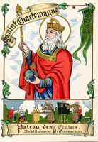 St. Charlemagne Holy Card